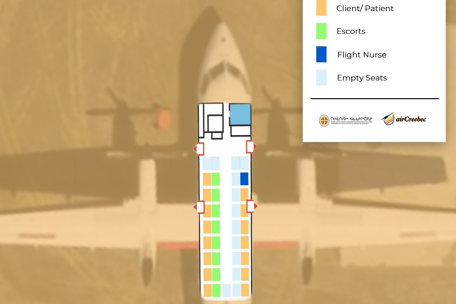 Seat map showing where to sit on plane during COVID-19