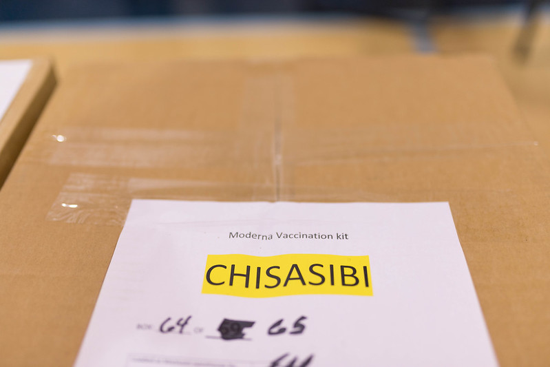 Vaccination kit with Chisasibi label