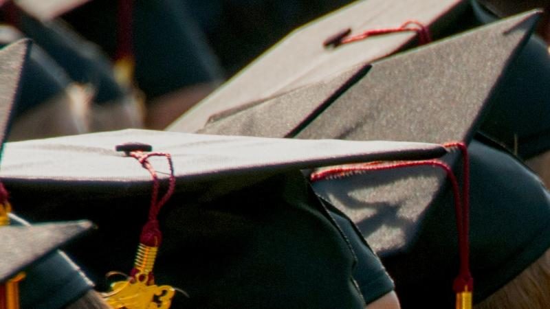 Graduation ceremony hats.
