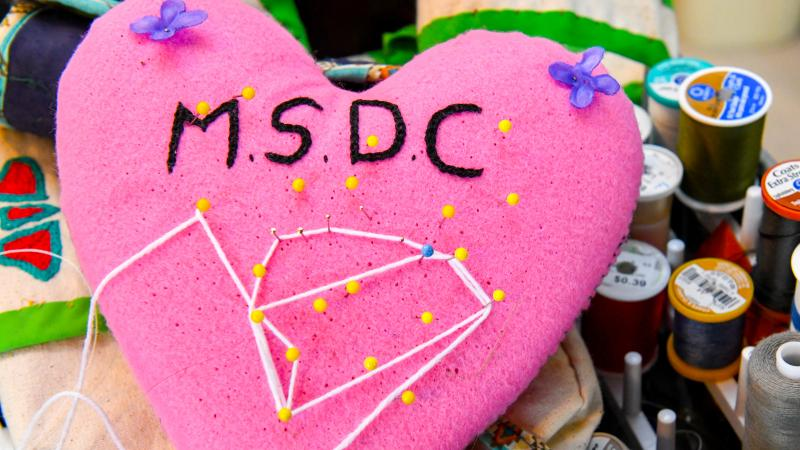 Embroidered heart with MSDC beading