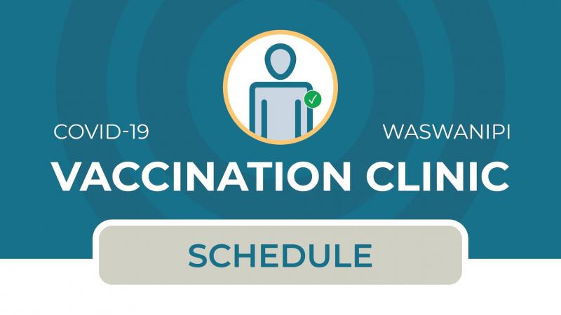 COVID-19 vaccination schedule for Waswanipi
